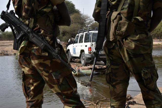 Des soldats tchadiens, dans la région du lac Tchad, en janvier 2015.