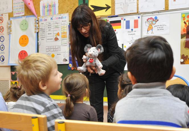 Dans une école primaire bilangue à Metz en 2015.
