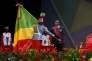 Le président congolais, Denis Sassou-Nguesso, lors de son investiture, le 16 avril 2016, à Brazzaville.