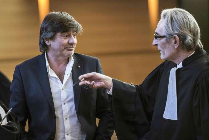 Michel Neyret lors d'une comparution pour diffamation au tribunal de Lyon le 16  décembre.