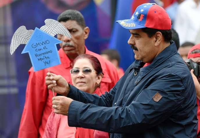 Le président vénézuélien, Nicolas Maduro, le 1er mai à Caracas.