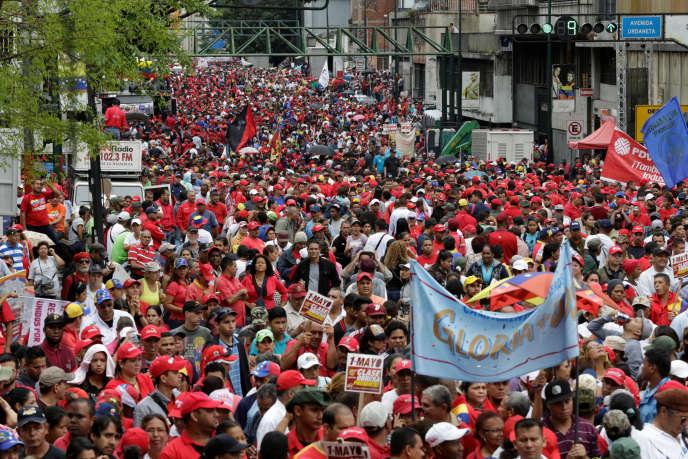 Défilé du 1er mai, à Caracas.