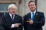 L'ancien maire de Londres, Boris Johnson, et le premier ministre britannique, David Cameron, en août 2012.