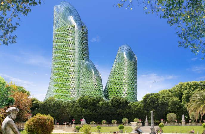 Photosynthesis Towers (Vincent Callebaut), Paris 15e.