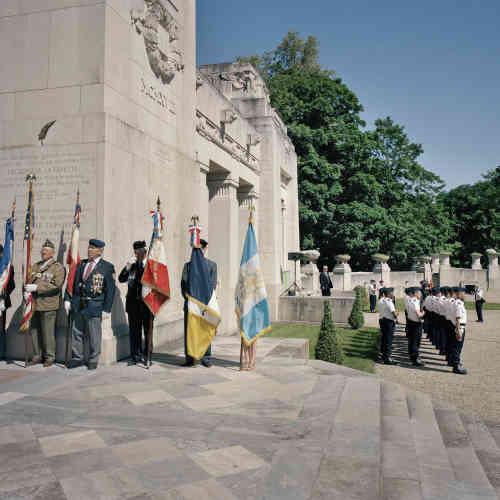Le Mémorial de l'escadrille La Fayette, unité de volontaires américains venus en aide à la France lors de la première guerre mondiale, à Marnes-la-Coquette, dans les Hauts-de-Seine.
