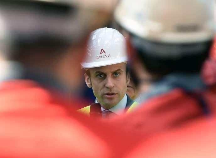 Le ministre de l'économie, Emmanuel Macron, avait visité l'usine du Creusot, le 2 mai.