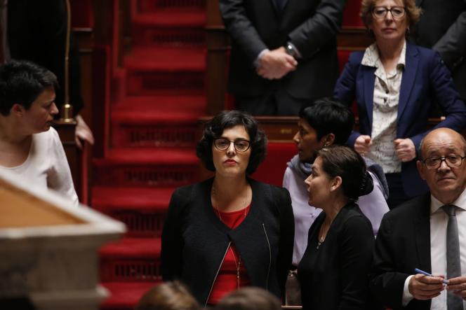 Myriam El Khomri, lors de la séance de questions au gouvernement, à l'Assemblée nationale, le 6avril.