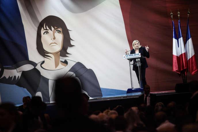 Le discours de Marine Le Pen; le 1er mai 2016 à Paris.