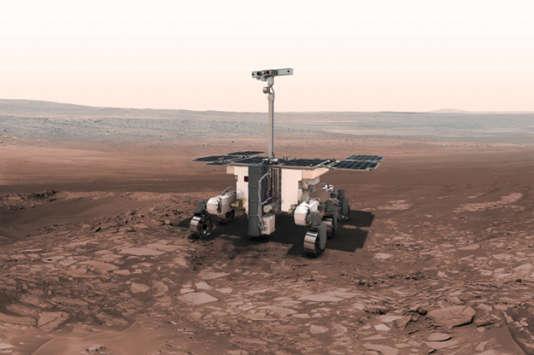 Vue d'artiste de l'astromobile de la mission ExoMars.