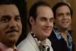 """Image du film """"Les Trois frères"""". Lorsqu'ils arrivent chez le notaire, les trois frères (Les Inconnus) apprennent qu'ils ne peuvent plus prétendre à l'héritage, le délai ayant expiré depuis deux jours (Photo: capture d'écran de l'extrait publié sur YouTube du film paru en 1995)."""