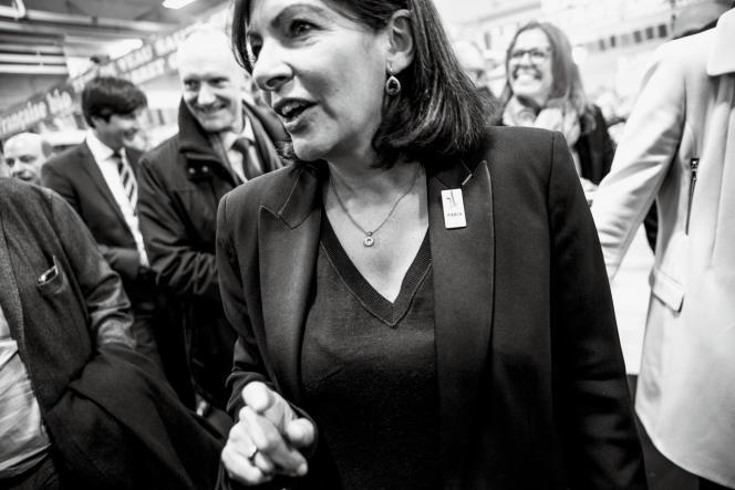 Anne Hidalgo à l'ouverture de la Foire de Paris.