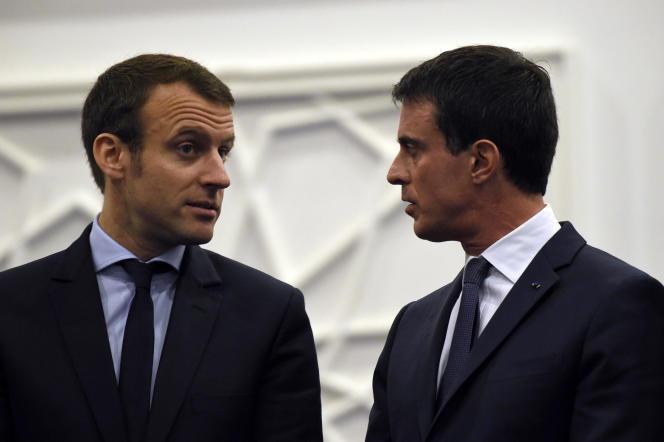 Avec le premier ministre Manuel Valls, le 10 avril, à Alger.