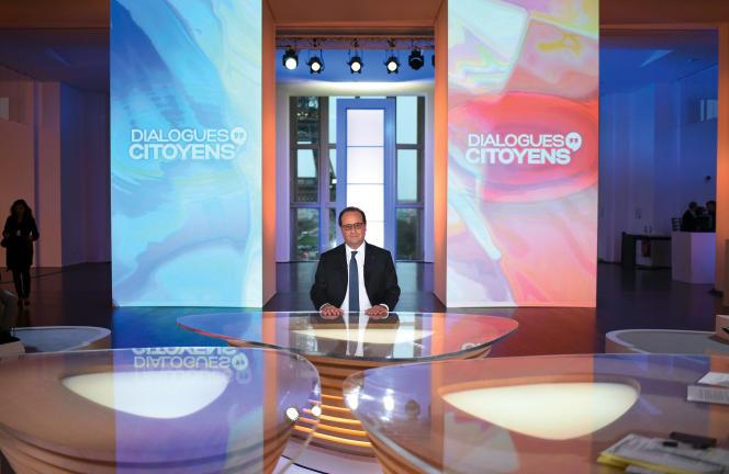 Francois Hollande lors de l'émission