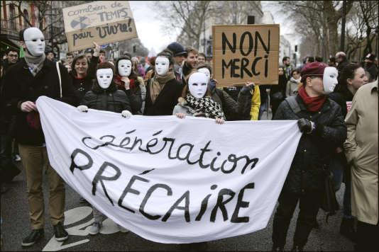 Journee de mobilisation contre le projet de loi El Khomri de reforme du code du travail à Paris