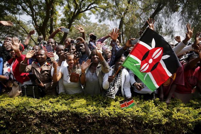 Manifestation pour les droits des gays au Kenya à l'occasion de la venue du président Obama à Nairobi le 26 juillet 2015.