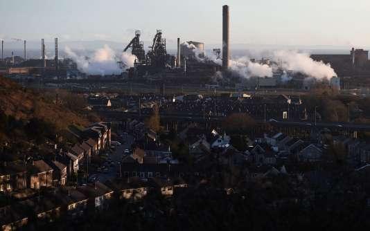 Vue de l'usine de Tata Steel à Port Talbot, le 30 mars.