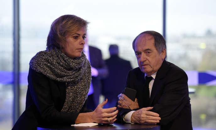 Florence Hardouin et Noël Le Graët au siège de la FFF.