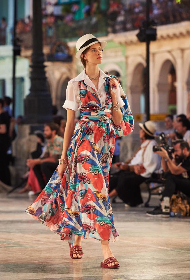 Lors du défilé Chanel, le 3 mai, sur le Paseo del Prado, à La Havane.