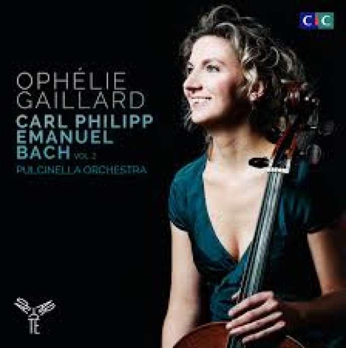 Pochette du recueil d'œuvres de Carl Philipp Emanuel Bach par l'Orchestre Pulcinella, Francesco Corti (clavecin et pianoforte) et Ophélie Gaillard (violoncelle et direction).