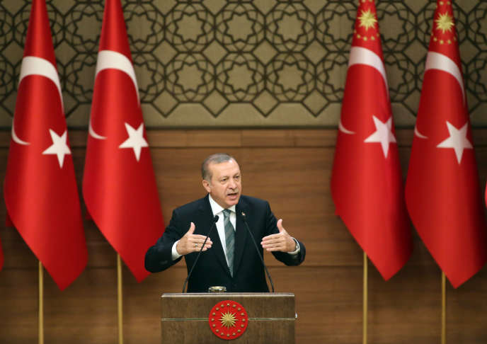Recep Tayyip Erdogan, le 4 mai, au palais présidentiel à Ankara.
