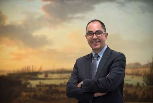 Le directeur du musée du Louvre, Jean-Luc Martinez, lors de l'inauguration du musée La Boverie, à Liege, le 4 mai 2016.