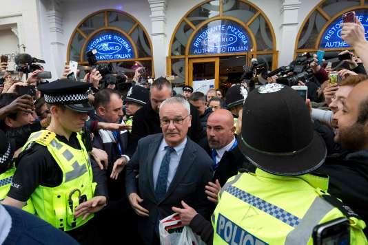 Claudio Ranieri, le 3 mai, à Leicester City.