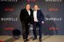 Gerard Depardieu (à gauche) et Benoit Magimel lors de la présentation de la série «Marseille», le premier programme français produit par la plate-forme Netflix, le 4 mai.