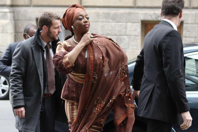 Diezani Alison-Madueke, ex-ministre du pétrole du Nigeria, ici à une réunion de l'OPEP à Vienne en 2014.