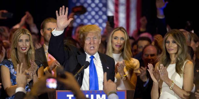 Donald Trump, le 3 mai, après sa victoire dans la primaire de l'Indiana.
