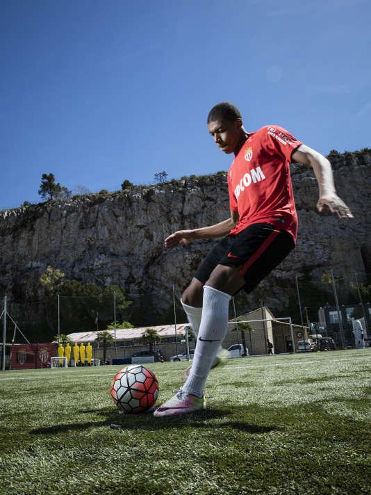 Kylian Mbappé au centre d'entrainement de l'AS Monaco à La Turbie.