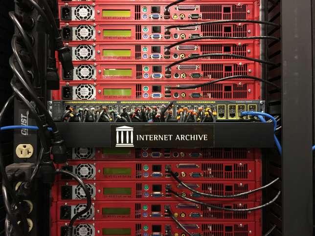 Serveurs de l'Internet Archive de la BNF.