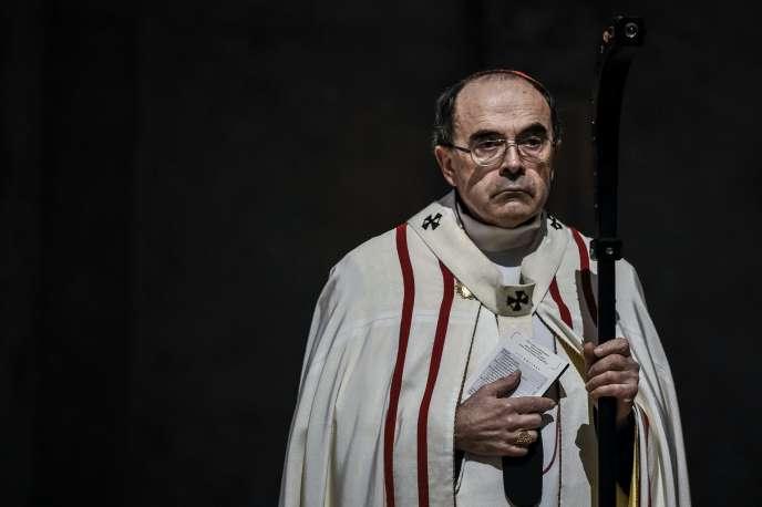 Le cardinal Philippe Barbarin, le 3 avril.