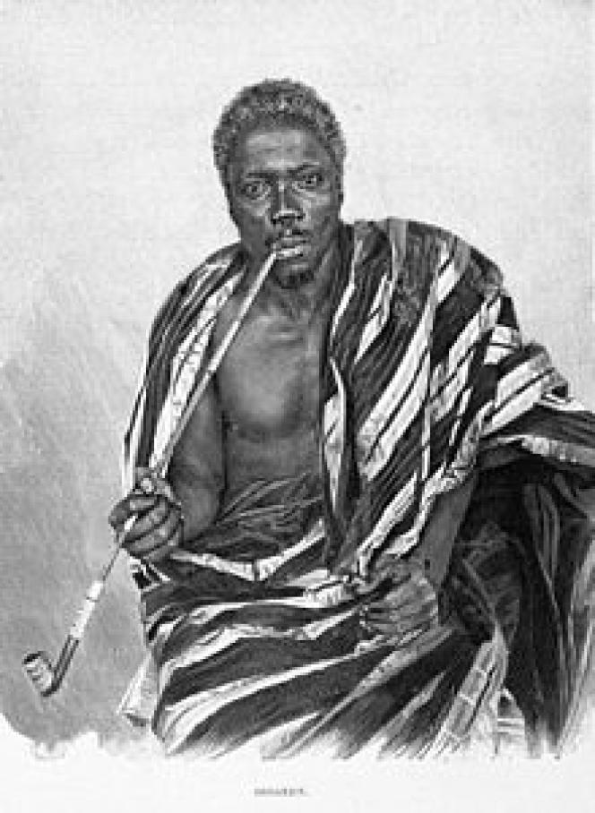 Gbèhanzin, roi du Dahomey de 1890-1894, l'actuel Bénin.