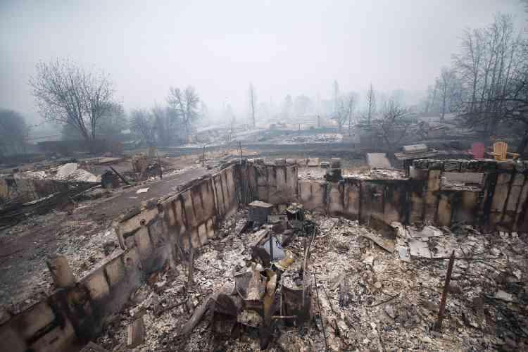 Certains quartiers résidentiels de Fort McMurray ont été réduits en cendres.