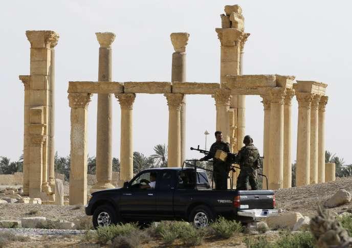 Une patrouille de l'armée syrienne à Palmyre, le 6 mai