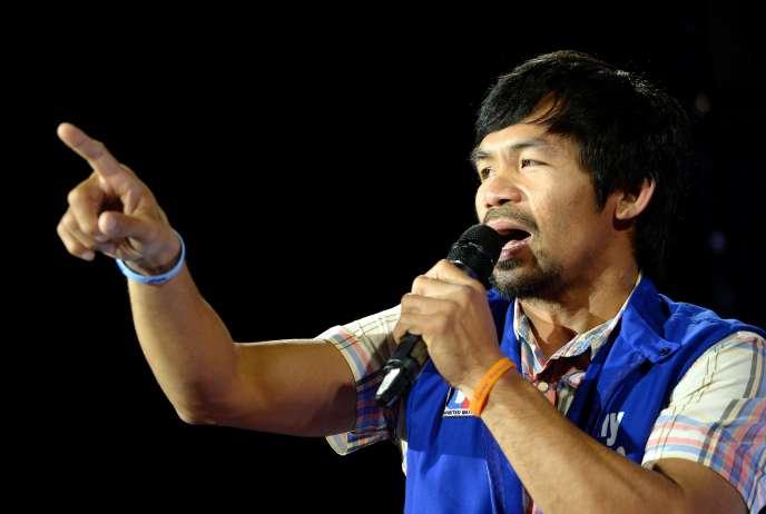 L'octuple champion du monde Manny Pacquiao, star philippine de la boxe, était quasi assuré mardi d'occuper un fauteuil de sénateur, selon un décompte portant sur plus de 90 % des voix.