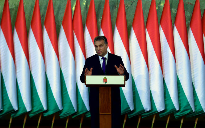 Viktor Orban à Budapest le 24 février 2016.