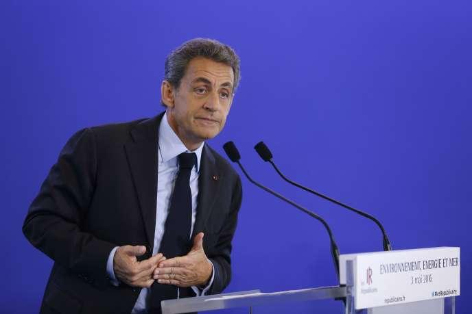 Nicolas Sarkozy, le 3 mai.