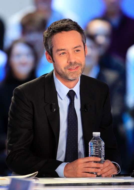 Yann Barthès, animateur et fondateur du « Petit Journal » et de la société Bangumi, en 2012. / AFP / JACQUES DEMARTHON