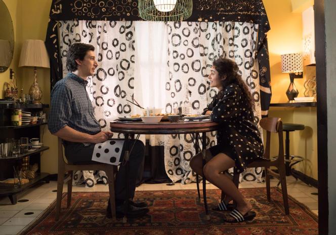 Adam Driver (Paterson) et Golshifteh Farahani (Laura), dans « Paterson », de Jim Jarmusch.