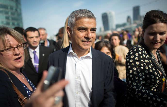 Le maire de Londres, Sadiq Khan, nouvellement élu, le 9 mai 2016.
