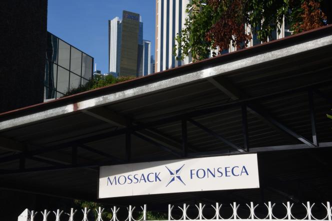 L'entrée de l'immeuble de la compagnie panaméenne Mossack Fonseca.