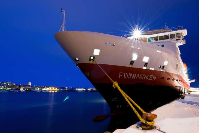 Le« MS Finnmarken», ici en 2008, à Vadso, est taillé pour la glace.