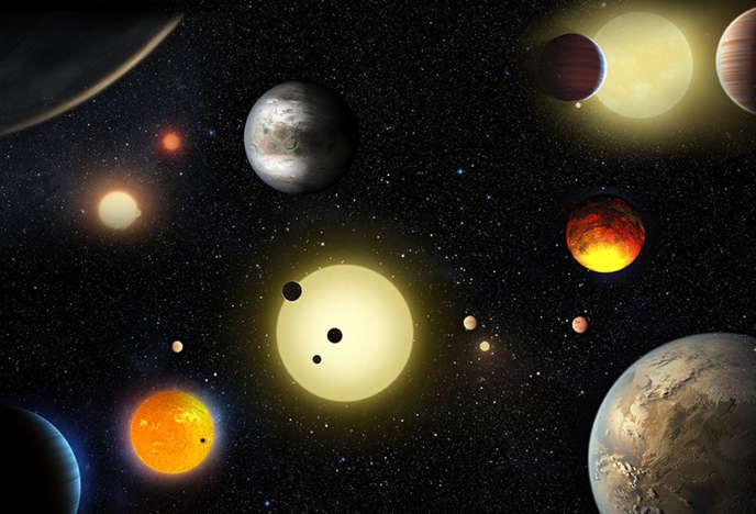 Vue d'artiste des nouvelles exoplanètes observées par la NASA.