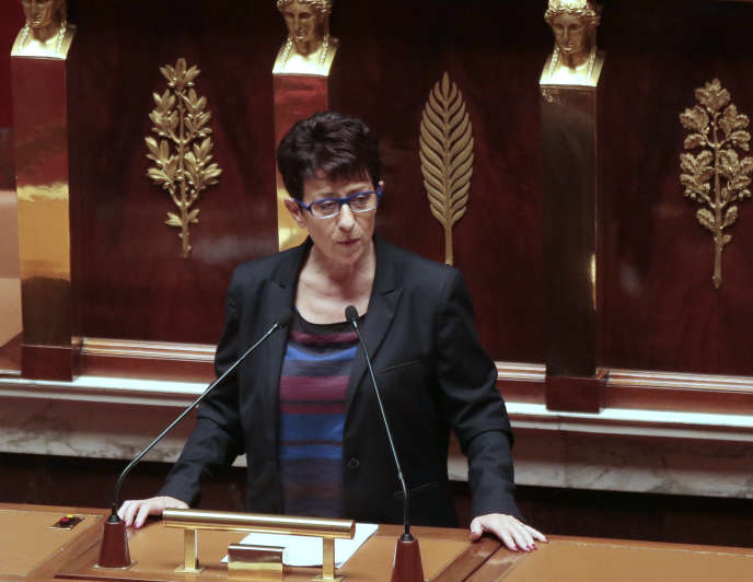 Catherine Demorton, à l'Assemblée nationale, le 20 octobre 2015.