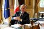 Le ministre français des affaires étrangères, Jean-Marc Ayrault, au Quai d'Orsay.