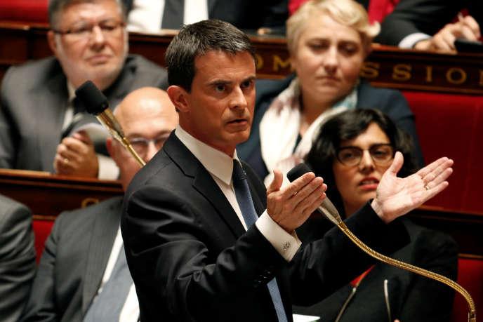 Manuel Valls, le 10 mai à l'Assemblée.