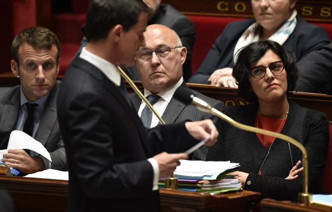 Le premier ministre Manuel Valls a annoncé sa volonté d'utiliser l'article 49-3 pour faire adopter la loitravail, mardi 10 à l'Assemblée nationale.