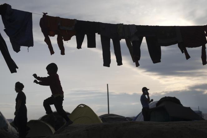 Le 10 mai à Idomeni, en Grèce, point frontière avec la Macédoine où 10000 réfugiés sont accueillis.