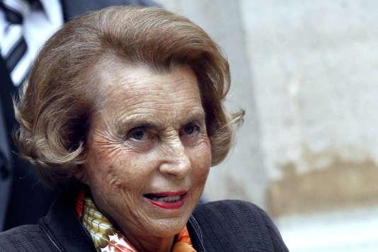 Liliane Bettencourt à Paris le 11 octobre 2011.